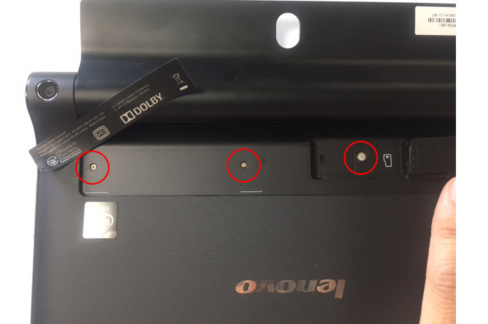 Yoga tablet 2-851F 分解画像その2